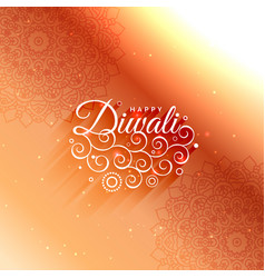 Beautiful diwali decoration greeting card vector