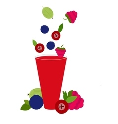 Berries cocktail vector image