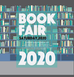 book fair festival poster for advertising concept vector image