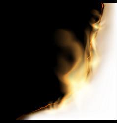burning white sheet vector image
