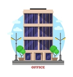 Business office architecture facade or building vector