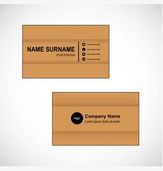 Bussinesh card vector