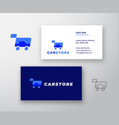 car store abstract sign or logo and vector image
