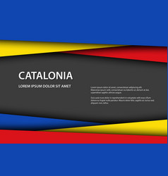 catalan colors and free grey space for your text vector image