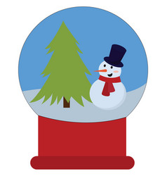 christmas toy on white background vector image