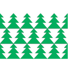 christmas tree in staggered order on white vector image