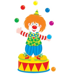 Circus clown juggler vector