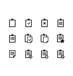 Clipboard icons vector