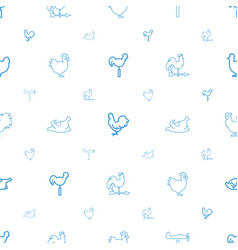 cock icons pattern seamless white background vector image