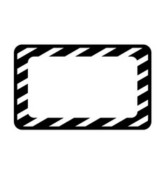 Construction banner board icon vector