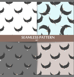 different flying birds seamless pattern vector image