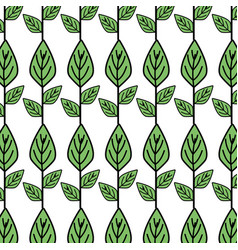 Ecology plants with leaves icon background vector