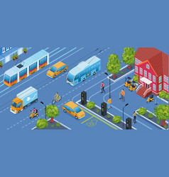 electric transport background vector image