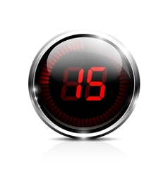 Electronic timer 15 seconds vector