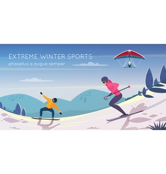 Extreme Sports Flat Composition Promotion Poster vector