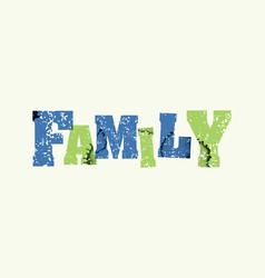 family concept stamped word art vector image