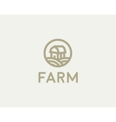 Farm house logotype Natural organic vector image