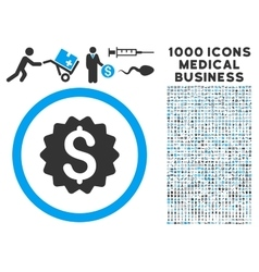 Financial Reward Seal Icon with 1000 Medical vector image