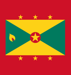 flag of grenada vector image