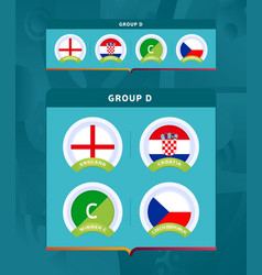 football 2020 tournament final stage group vector image