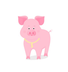 Funny piggy symbol of the chinese new year 2019 vector