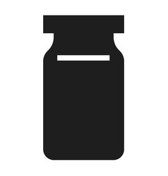 glass jar icon simple style vector image