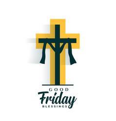 Good friday holy week flat vector