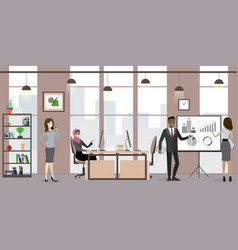 group business people or office workers vector image