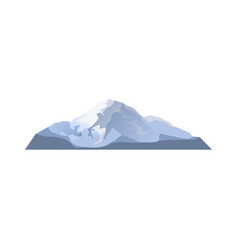 high glacier isolated icon vector image