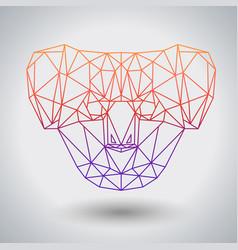 Hipster polygonal animal koala triangle animal vector