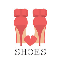 I love shoes poster vector