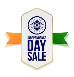 Independence Day Sale Banner with Ribbon vector