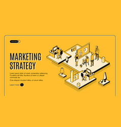 marketing strategy financial analytic company vector image