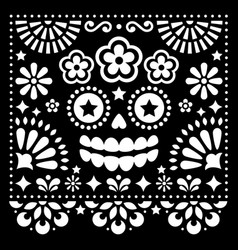 mexican folk art folk art design with skull vector image