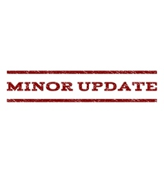 Minor Update Watermark Stamp vector image