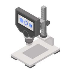 modern microscope icon isometric style vector image