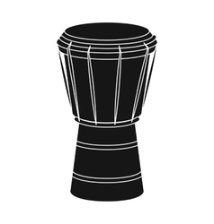National brazilian drum icon in black style vector