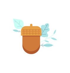 oak acorn icon in flat style vector image