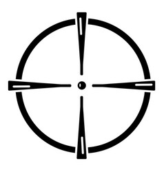 Paintball gun sight icon simple style vector