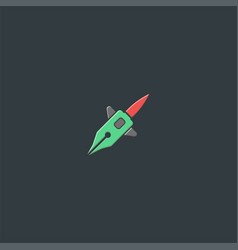 pen and rocket logo design symbol dan icon vector image