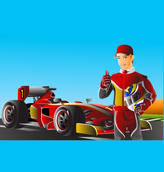 race car driver vector image