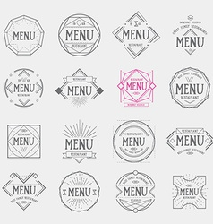 Restaurant menu logo vintage label retro design vector