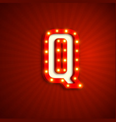 Retro style letter q vector