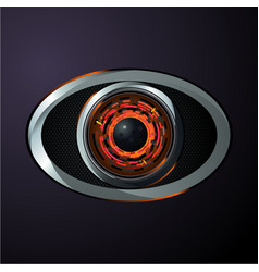 robot eye material design style digital data vector image