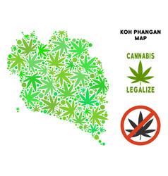 Royalty free cannabis leaves style koh phangan vector