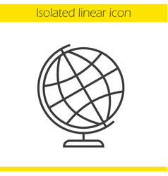 School globe linear icon vector