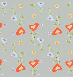 seamless pattern colorful flowers in the shape of vector image