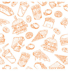 seamless sketch background retro vector image