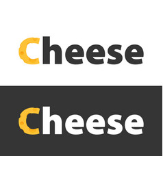 set of logos with cheese vector image