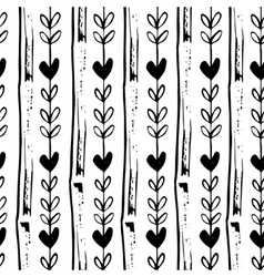 Simple seamless hand drawn pattern of vector